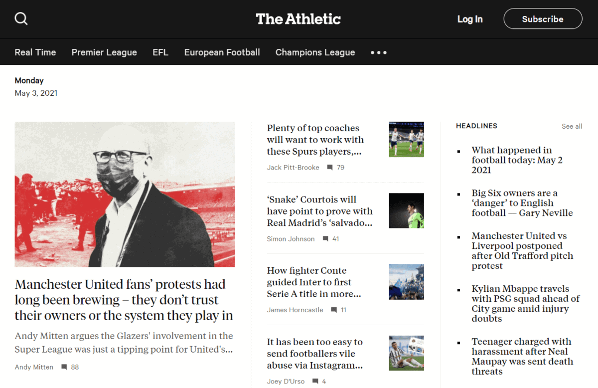 the athletic sports blog