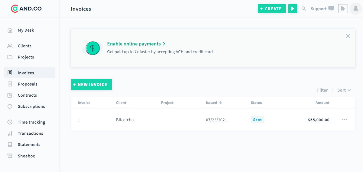 and co invoicing software