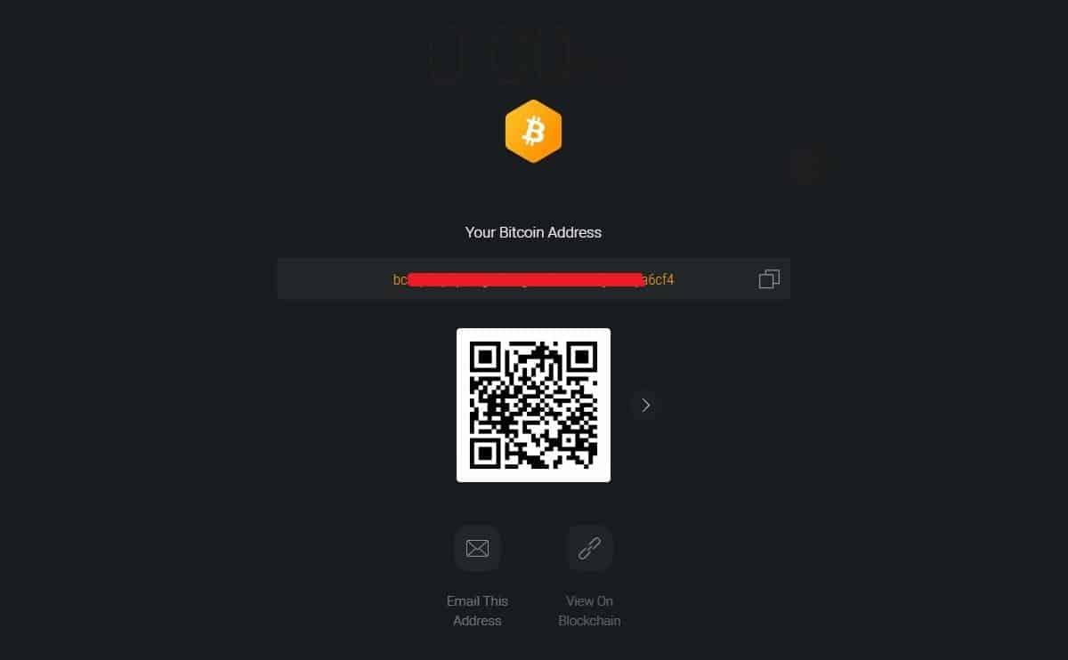 exodus bitcoin wallet address