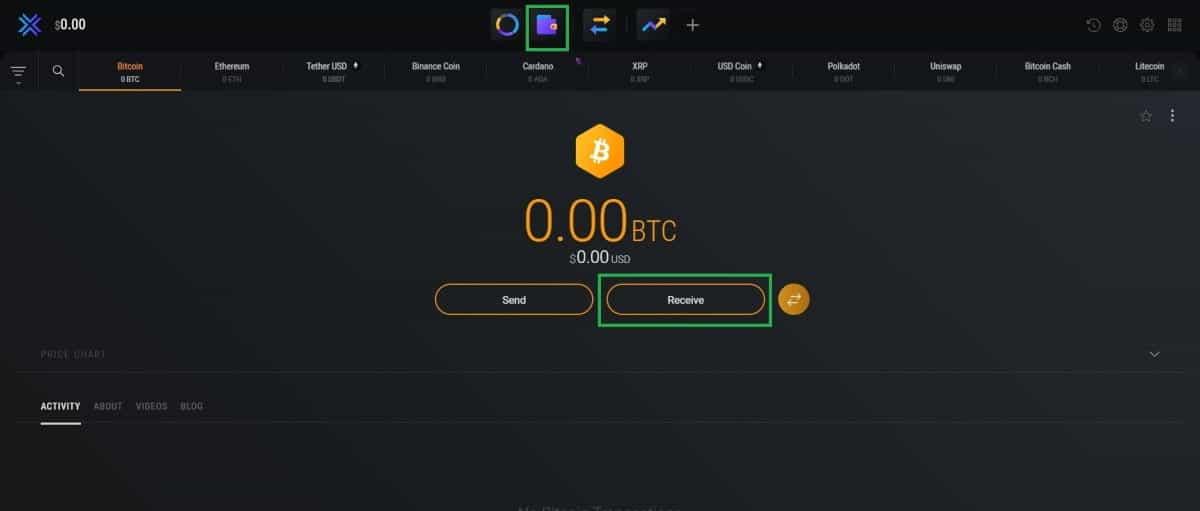 exodus wallet receive bitcoin